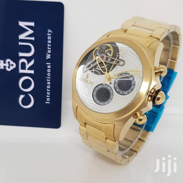 Archive: Corum White AAA Chronograph Gold Watch