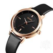 All Black Leather Strap Analog Skmei Ladies Watch | Watches for sale in Greater Accra, Achimota