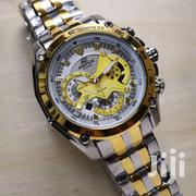 Casio Edifice Chronograp Silver Gold Dial Watch | Watches for sale in Greater Accra, Achimota