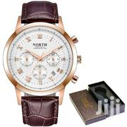 NORTH Brown Leather Mens Watch Fashion Chronograph | Watches for sale in Greater Accra, Achimota
