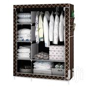 2-in-1 Portable Wardrobe - Brown/Gold | Furniture for sale in Greater Accra, Tema Metropolitan