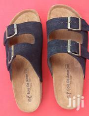 Quality Black Ghana Made Suede Slippers. | Shoes for sale in Brong Ahafo, Dormaa Municipal