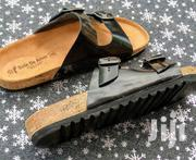 Quality Ghanaian Made Black Leather Slippers. | Shoes for sale in Brong Ahafo, Dormaa Municipal